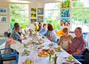 blauwe meije lange tafels lunch 4