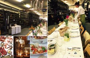 sfeer fotos kerst buffet catering op locatie bedrijf lange tafels-01
