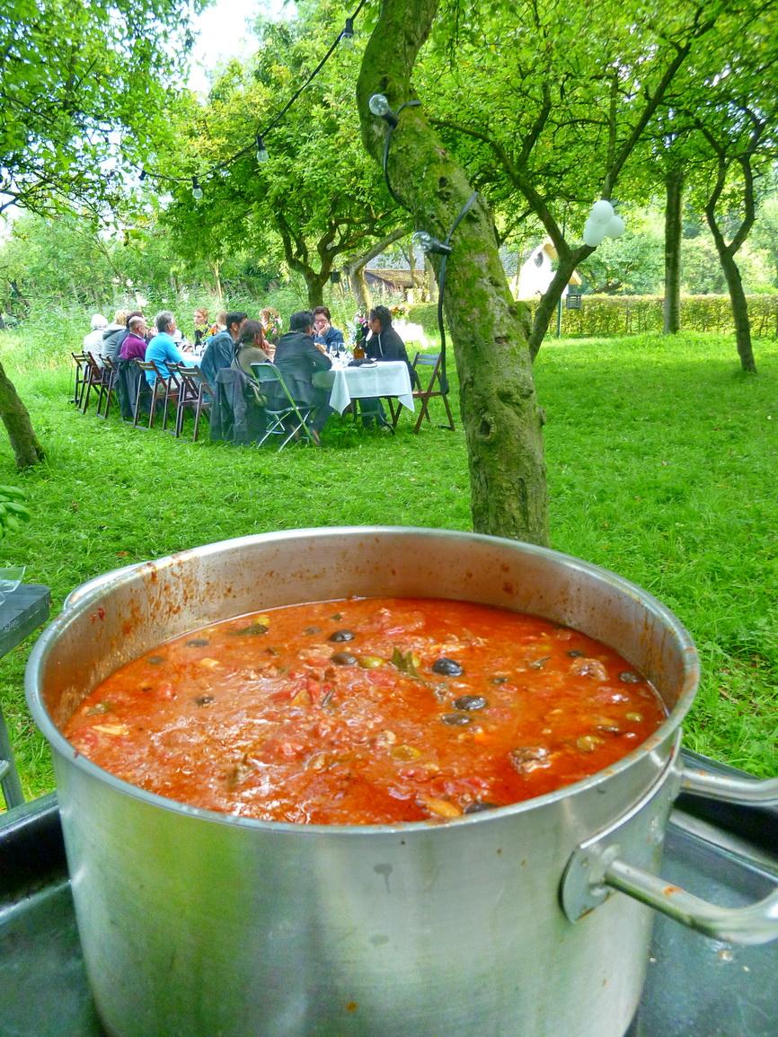 Italiaanse kipstoof in Brediuspark