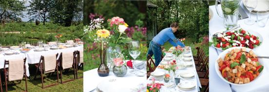 catering lunch feest Lange tafels in het Gras
